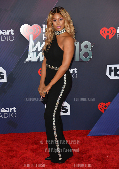 Laverne Cox at the 2018 iHeartRadio Music Awards at The Forum, Los Angeles, USA 11 March 2018<br /> Picture: Paul Smith/Featureflash/SilverHub 0208 004 5359 sales@silverhubmedia.com