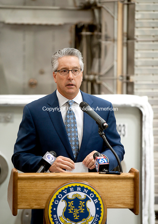 TORRINGTON, CT--- -111915JS01--Arthur &lsquo;Chip&rsquo; Bottone,<br /> President and Chief Executive Officer of FuelCell Energy, talks about the company during a ground-breaking ceremony at FuelCell Energy in Torrington on Thursday. The company will expand their facility by over 100,000 square-feet. <br /> Jim Shannon Republican-American