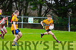 Emmets Niall Collins get away from the Brosna defence In the North Kerry Senior Football Championship Final  Brosna v Listowel Emmets at Moyvane on Sunday