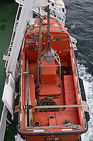 Top view of lifeboat