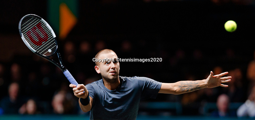 Rotterdam, The Netherlands, 14 Februari 2020, ABNAMRO World Tennis Tournament, Ahoy, <br /> Daniel Evans (GBR).<br /> Photo: www.tennisimages.com
