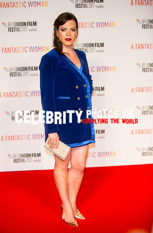 Daniela Vaga at the A FANTASTIC WOMAN – BFI FLARE SPECIAL PRESENTATION (UK PREMIERE), BFI London Film Festival, UK  6th Oct 2017