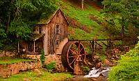 artistic interpretation of Gresham's Mill, Georgia, with Topaz Impression, Van Gogh preset