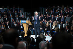 © Joel Goodman - 07973 332324 . 28/03/2015 . Manchester , UK . Chancellor GEORGE OSBORNE speaks at the Conservative Party Spring Forum at the Old Granada Studios , Quay Street , Manchester . Photo credit : Joel Goodman