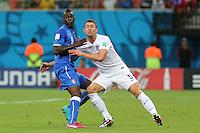 """England """"s Gary Cahill and Mario Balotelli"""