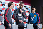 Spain coach Julen Lopetegui, David de Gea and Thiago Alcantara during press conference the day before Spain and Argentina match at Wanda Metropolitano in Madrid , Spain. March 26, 2018. (ALTERPHOTOS/Borja B.Hojas)