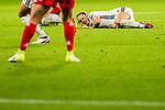 26.07.2017, Stadion Galgenwaard, Utrecht, NLD, Tilburg, UEFA Women's Euro 2017, Russland (RUS) vs Deutschland (GER), <br /> <br /> im Bild | picture shows<br /> Lena Goessling (Deutschland #8) bleibt nach Foul am Boden, <br /> <br /> Foto © nordphoto / Rauch