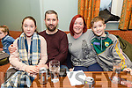 Enjoying the Tenacity School of Performing Arts Table Quiz fundraiser at Na Gaeil Club on Sunday were Caoilfhionn Foley, Conor Foley, Deirdre Ferris and  Ainle Foley