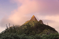 Nu'uanu Pali Lookout, one of the major cultural and scenic tourist attractions on O'ahu