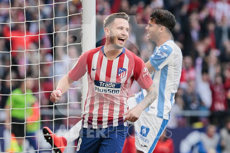 Atletico de Madrid's Saul Niguez celebrates goal during La Liga match between Atletico de Madrid and CD Leganes at Wanda Metropolitano stadium in Madrid, Spain. March 09, 2019. (ALTERPHOTOS/A. Perez Meca)