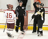 Derek Sacco (BC - 16), John May (Bryant - 6) - The Boston College Eagles defeated the Bryant University Bulldogs 2-1 on Saturday, December 11, 2010, at Conte Forum in Chestnut Hill, Massachusetts.