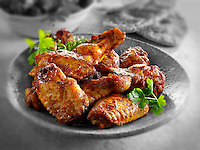 Traditional barbecue Chicken wings