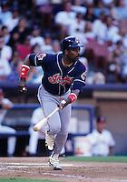 Eddie Murray of the Cleveland Indians at Anaheim Stadium in Anaheim,California during the 1996 season. (Larry Goren/Four Seam Images)