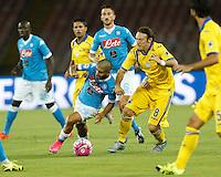 Lorenzo Insigne  durante l'incontro di calcio di Serie A   Napoli -Sampdoria allo  Stadio San Paolo  di Napoli , 30 Agosto 2015