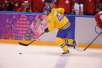 OLYMPICS: SOCHI: Bolshoy Ice Dome, 14-02-2014, Ice Hockey, Men's Prelim. Round Group C, Sweden-Switzerland, result: 1-0, ©photo Martin de Jong