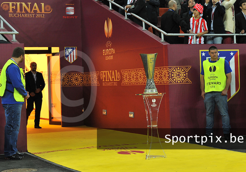 Uefa Europa League Final Bucharest 2012 : Wednesday 9 May 2012 - National Arena Bucharest : Club Atletico de Madrid - Athletic Club Bilbao.UEFA - Beker.foto DAVID CATRY