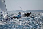 ISAF Sailing World Cup Hyères - Fédération Française de Voile. 470 Women, Camille Lecointre, Helene Defrance.