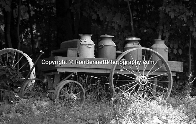 Wagon with colored milk cans New England, Milk wagon with milk cans New England States, six-state region, Connecticut, Massachusetts, Rhode Island, thriving tourist industry, If you don't like the weather, wait ten minutes, Wagon with colored milk cans New England, Milk wagon, wagon, milk cans, milk can,  New England States, six-state region, Northeastern corner of United States, bordered by Atlantic Ocean, Canada and New York, Connecticut Massachusetts Rhode Island Maine New Hampshire Vermont, thriving tourist industry, Main New Hampshire, Pilgrims from the Kingdom of England, New World, colonies, RonBennettPhotography.com ©