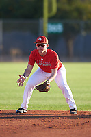 John Blanchard III (45), from Amite, Louisiana, while playing for the Cardinals during the Under Armour Baseball Factory Recruiting Classic at Gene Autry Park on December 27, 2017 in Mesa, Arizona. (Zachary Lucy/Four Seam Images)