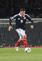 Jamie Mackie in the Scotland v Macedonia FIFA World Cup Qualifying match at Hampden Park, Glasgow on 11.9.12.