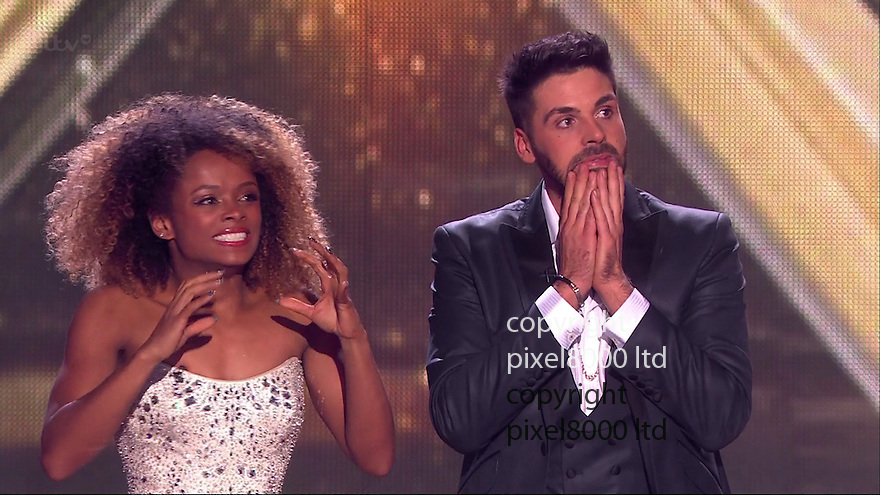 ITV X factor final<br /> <br /> <br /> Ben Haenow and Fleur East in final<br /> <br /> <br /> Pic supplied by Pixel 8000 Ltd