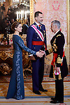King Felipe VI and Queen Letizia during the Military Easter at Royal Palace in Madrid, Spain. January 06, 2017. (ALTERPHOTOS/BorjaB.Hojas)
