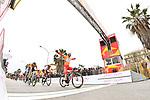 Manuel Belletti (ITA) Androni Giocattoli-Sidermec wearing the sprints Maglia Arancione wins Stage 2 of Il Giro di Sicilia running 236km from Capo d'Orlando to Palermo, Italy. 4th April 2019.<br /> Picture: LaPresse/Fabio Ferrari | Cyclefile<br /> <br /> <br /> All photos usage must carry mandatory copyright credit (© Cyclefile | LaPresse/Fabio Ferrari)