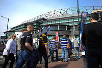 Bath Rugby fans arrive at the stadium. The Clash, Aviva Premiership match, between Bath Rugby and Leicester Tigers on April 7, 2018 at Twickenham Stadium in London, England. Photo by: Patrick Khachfe / Onside Images