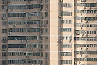 Daytime landscape view from a window of the Ibis Hotel on Nan San Li Tun Lu of a residential building complex in Cháoyáng Q? in Beijing.  © LAN