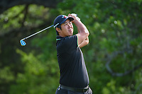 Byeong Hun An (KOR) watches his tee shot on 13 during day 2 of the Valero Texas Open, at the TPC San Antonio Oaks Course, San Antonio, Texas, USA. 4/5/2019.<br /> Picture: Golffile | Ken Murray<br /> <br /> <br /> All photo usage must carry mandatory copyright credit (&copy; Golffile | Ken Murray)