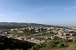 Israel, the Upper Galilee. A view of the Druze town Yano'ach-Jat