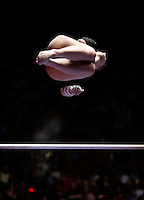 Utah's Jessica Duke competes on the bars at University of Utah vs. Arizona State NCAA Women's gymnastics at the Huntsman Center.