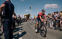 Sonny Colbrelli (ITA/Bahrain Merida) rolling out post-finish<br /> <br /> Stage 2: Mouilleron-Saint-Germain &gt; La Roche-sur-Yon (183km)<br /> <br /> Le Grand D&eacute;part 2018<br /> 105th Tour de France 2018<br /> &copy;kramon