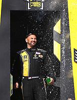 Mar 19, 2017; Gainesville , FL, USA; NHRA top fuel driver Tony Schumacher during the Gatornationals at Gainesville Raceway. Mandatory Credit: Mark J. Rebilas-USA TODAY Sports