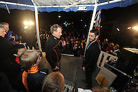 SHORTTRACK: BANTEGA: Huldiging Wereldkampioen Shorttrack Sjinkie Knegt Bantega, ©foto Martin de Jong