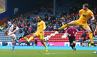 Blackburn Rovers' Elliott Bennett shoots past Preston North End's Daniel Johnson and scores his sides first goal <br /> <br /> Photographer Stephen White/CameraSport<br /> <br /> The EFL Sky Bet Championship - Blackburn Rovers v Preston North End - Saturday 18th March 2017 - Ewood Park - Blackburn<br /> <br /> World Copyright &copy; 2017 CameraSport. All rights reserved. 43 Linden Ave. Countesthorpe. Leicester. England. LE8 5PG - Tel: +44 (0) 116 277 4147 - admin@camerasport.com - www.camerasport.com