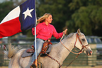 Lone star state flag bearer at the the Riata Roundup Rodeo June 8th, 2013.