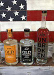 Stumpy's Distillery in rural Columbia can produce bourbons (left and right) and Vodka.