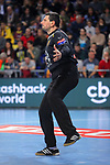VELUX EHF 2017/18 EHF Men's Champions League Group Phase - Round 11.<br /> FC Barcelona Lassa vs HC Vardar: 29-28.<br /> Arpad Sterbik.