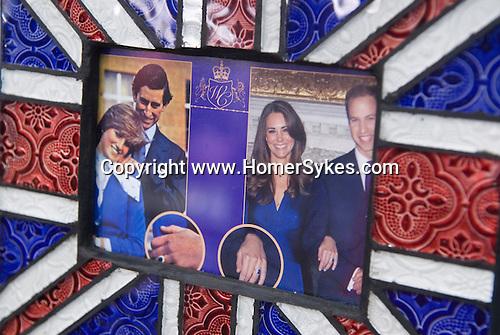 Prince William and Kate Middleton Royal Wedding Prince Charles and Princess Diana Weddingf ring. memorabilia. London shop