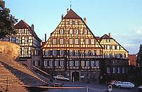 Schwabisch Hall: Marktplatz, steps of St. Michael's.