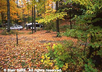 Northeast PA Landscape, fall camping, World's End State Park, NE PA