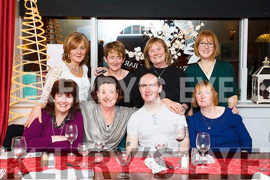 Irish Guidedogs Tralee, volunteers enjoying their Xmas party in Cassidys Restuarant, Tralee on Friday night last. Seated L to R: Joan Hill, Margaret O'Shea, Dara O'Cinneide, Michelle Kennedy. Standing, Ann Condon, Lou Eirwin, Ann O'Riordan & Anna Lynch.