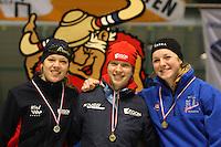 SCHAATSEN: HEERENVEEN: IJsstadion Thialf, 07-03-2008, VikingRace, Yvonne Nauta (NED), Roxanne van Hemert (NED), Ida Njåtun (NOR), ©foto Martin de Jong