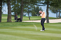 Joost Luiten (NED) in action on the 2nd hole during final round at the Omega European Masters, Golf Club Crans-sur-Sierre, Crans-Montana, Valais, Switzerland. 01/09/19.<br /> Picture Stefano DiMaria / Golffile.ie<br /> <br /> All photo usage must carry mandatory copyright credit (© Golffile | Stefano DiMaria)