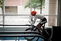 Lennard Kamma (DEU) on his way to the podium directly after his race<br /> <br /> U23 Men TT<br /> UCI Road World Championships / Richmond 2015
