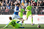 FK Trakai v St Johnstone&hellip;06.07.17&hellip; Europa League 1st Qualifying Round 2nd Leg, Vilnius, Lithuania.<br />Murray Davidson is brought down by Arunas Klimavicius<br />Picture by Graeme Hart.<br />Copyright Perthshire Picture Agency<br />Tel: 01738 623350  Mobile: 07990 594431