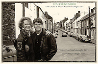 Tom Cruise and his then wife Nicole Kidman pictured on Main Street in Dingle Co. Kerry in 1991 a few weeks after their high profile marriage and during the filming of the Irish based movie  movie 'Far and Away'.Picture by Don MacMonagle
