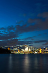 Sydney Opera House & Harbour Bridge during blue hour, Sydney, NSW, Australia