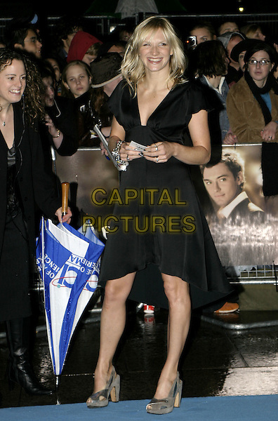 "JO WHILEY.""Alfie"" World Charity Premiere, Empire Cinema, Leicester Square, London, October 14th 2004..full length black dress.Ref: AH.www.capitalpictures.com.sales@capitalpictures.com.©Capital Pictures."